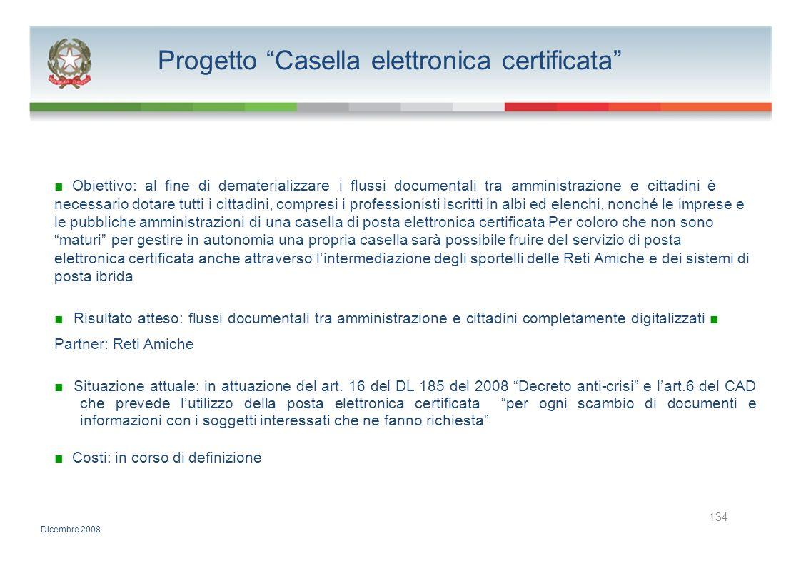 Progetto Casella elettronica certificata