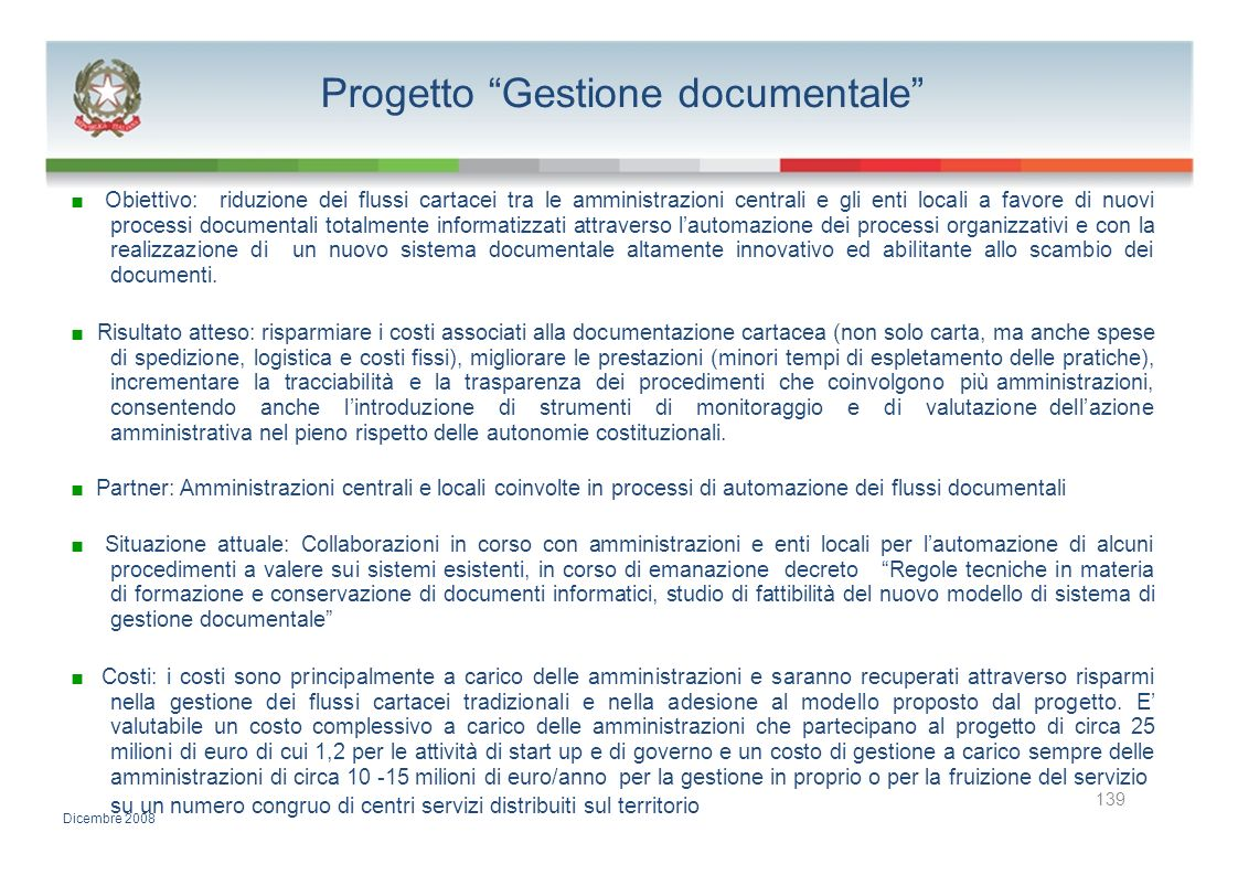 Progetto Gestione documentale