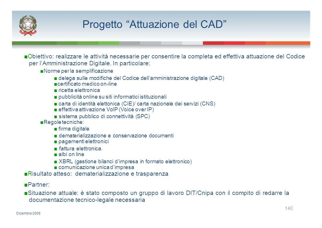 Progetto Attuazione del CAD