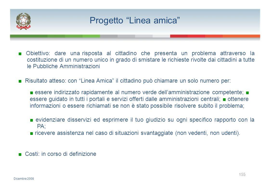Progetto Linea amica