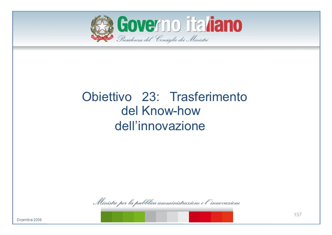 Obiettivo 23: Trasferimento del Know-how