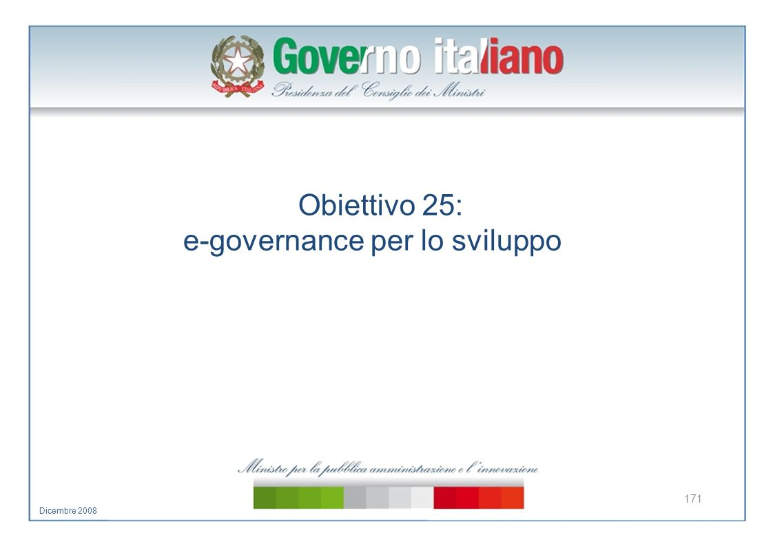 e-governance per lo sviluppo