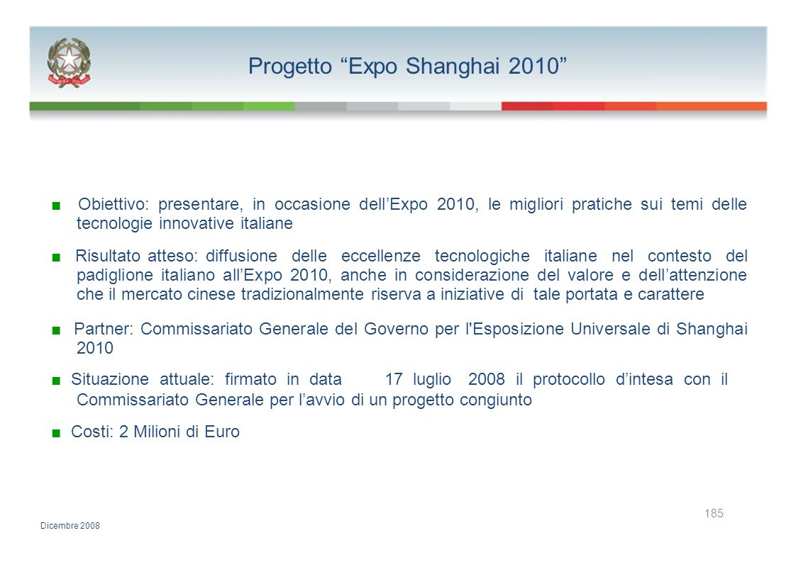 Progetto Expo Shanghai 2010