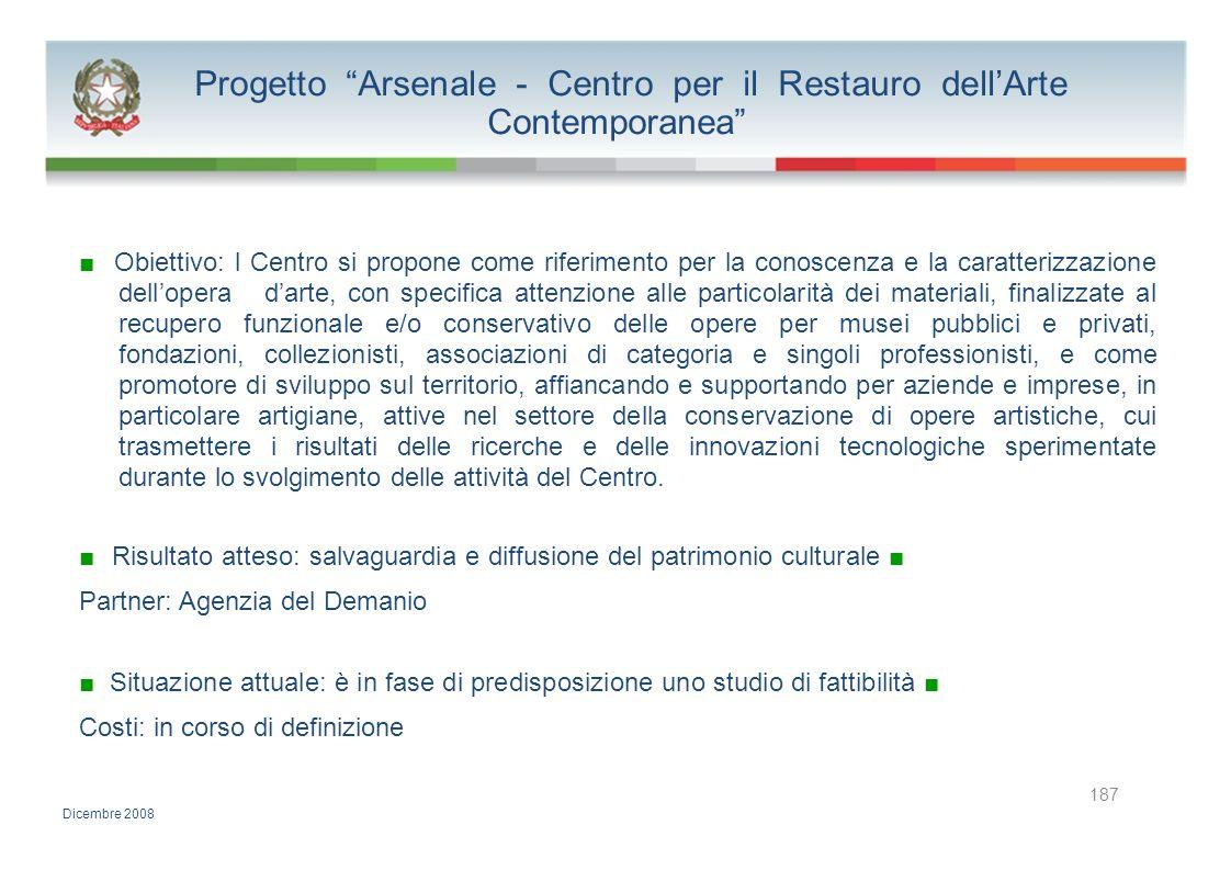 Progetto Arsenale - Centro per il Restauro dell'Arte Contemporanea