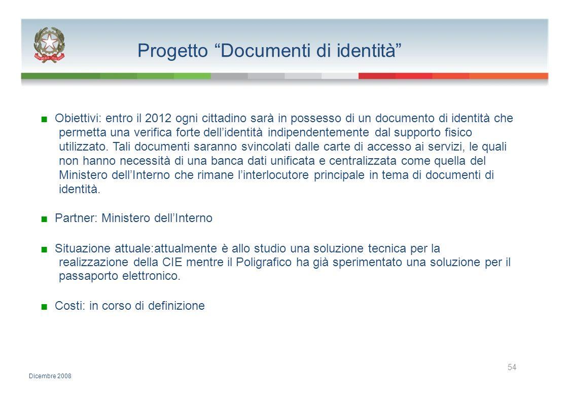 Progetto Documenti di identità