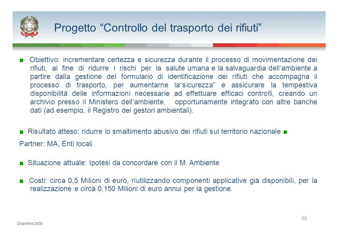 Progetto Controllo del trasporto dei rifiuti