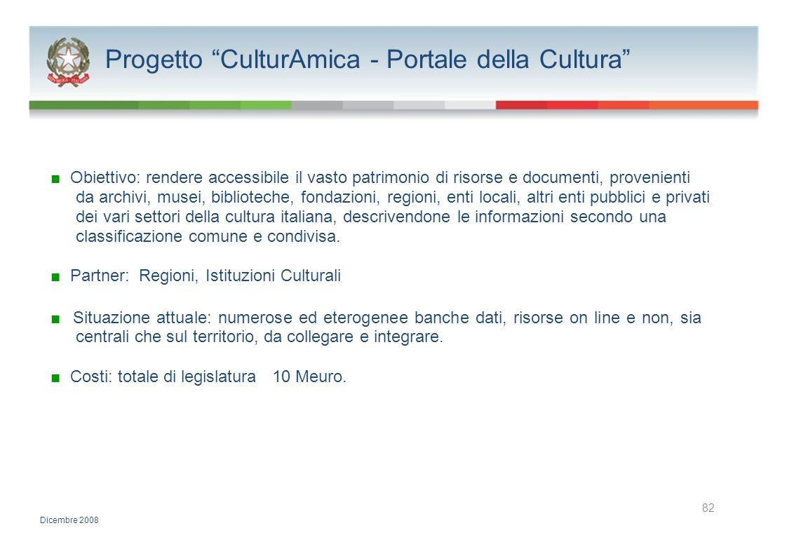 Progetto CulturAmica - Portale della Cultura
