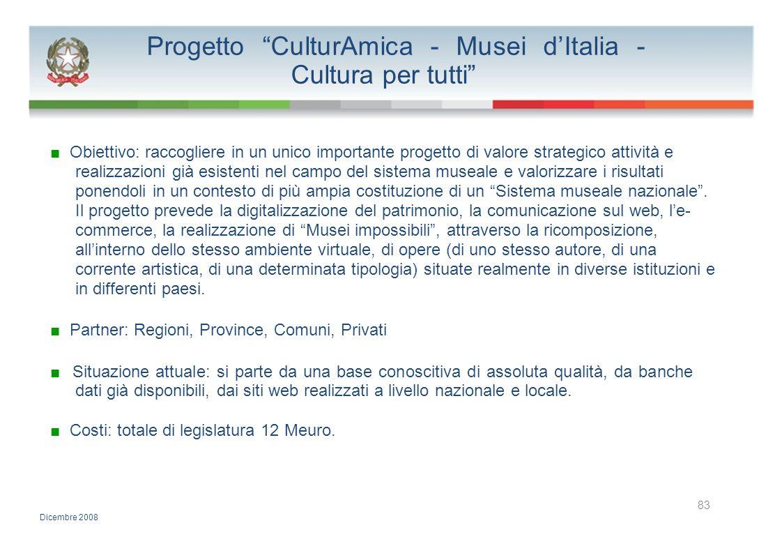 Progetto CulturAmica - Musei d'Italia - Cultura per tutti