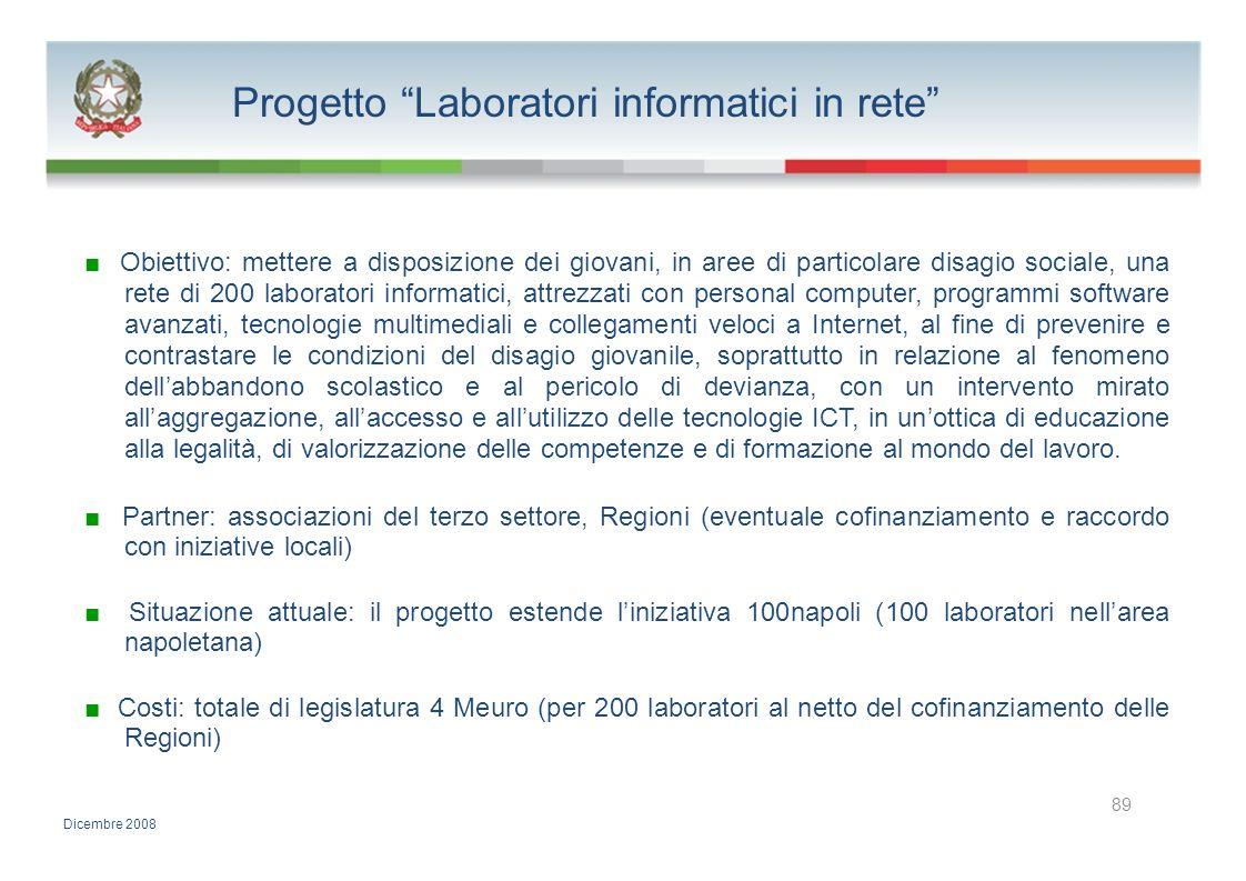 Progetto Laboratori informatici in rete
