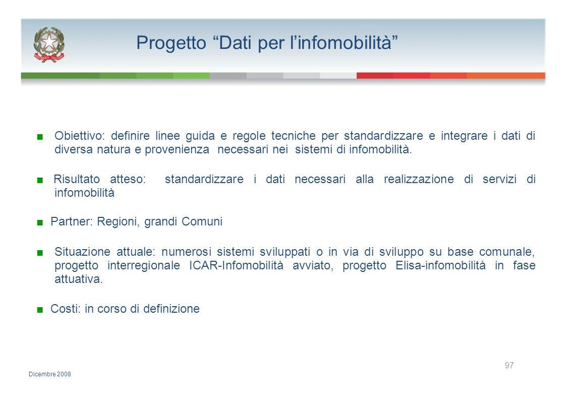 Progetto Dati per l'infomobilità