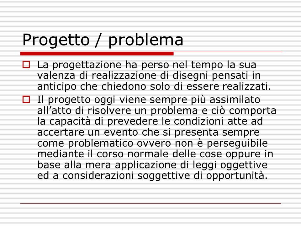 Progetto / problema
