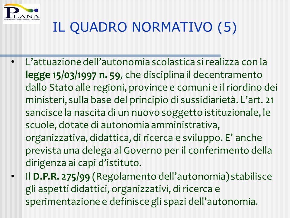 IL QUADRO NORMATIVO (5)