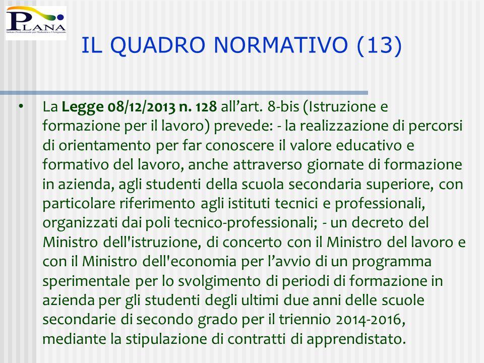 IL QUADRO NORMATIVO (13)
