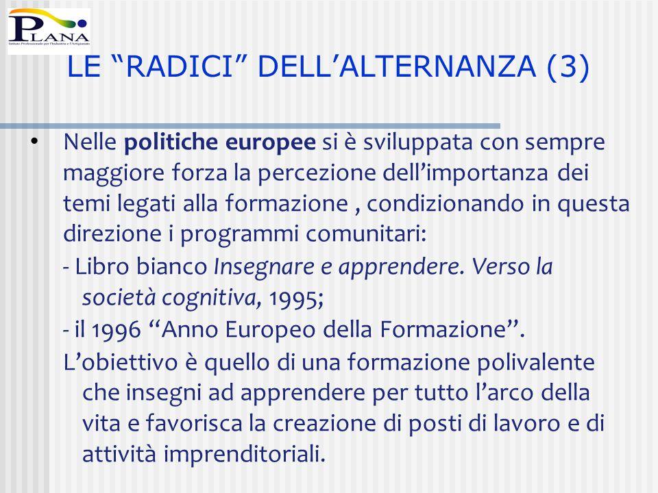 LE RADICI DELL'ALTERNANZA (3)