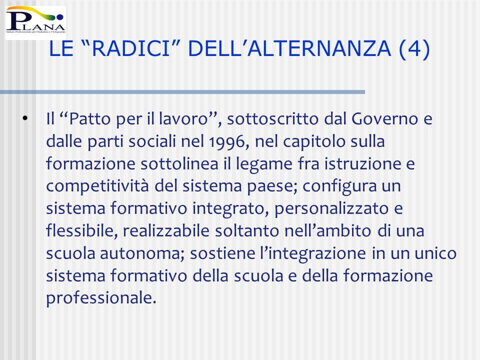 LE RADICI DELL'ALTERNANZA (4)