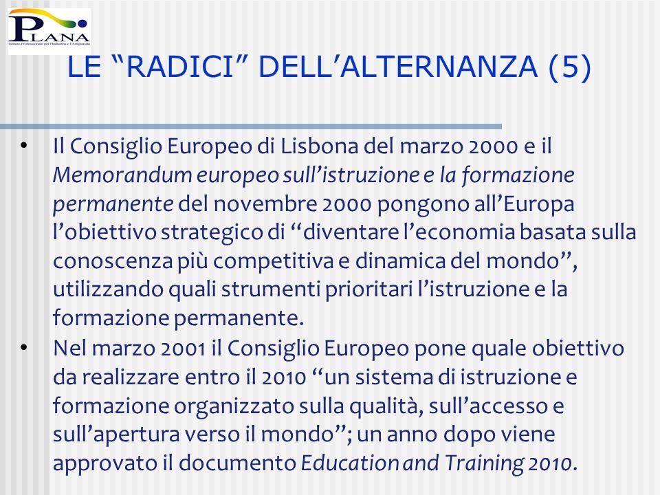 LE RADICI DELL'ALTERNANZA (5)