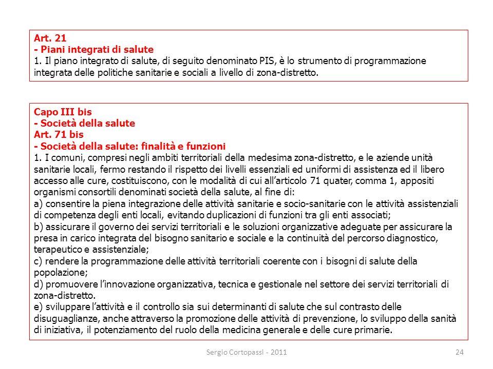 - Piani integrati di salute