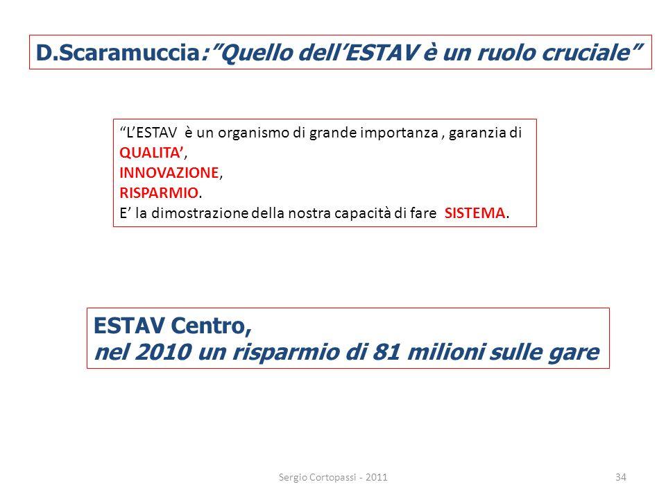 D.Scaramuccia: Quello dell'ESTAV è un ruolo cruciale