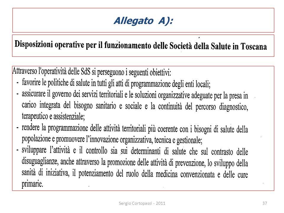 Allegato A): Sergio Cortopassi - 2011