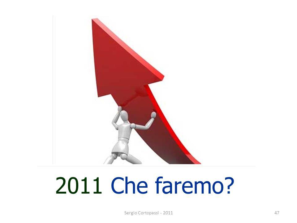 2011 Che faremo Sergio Cortopassi - 2011