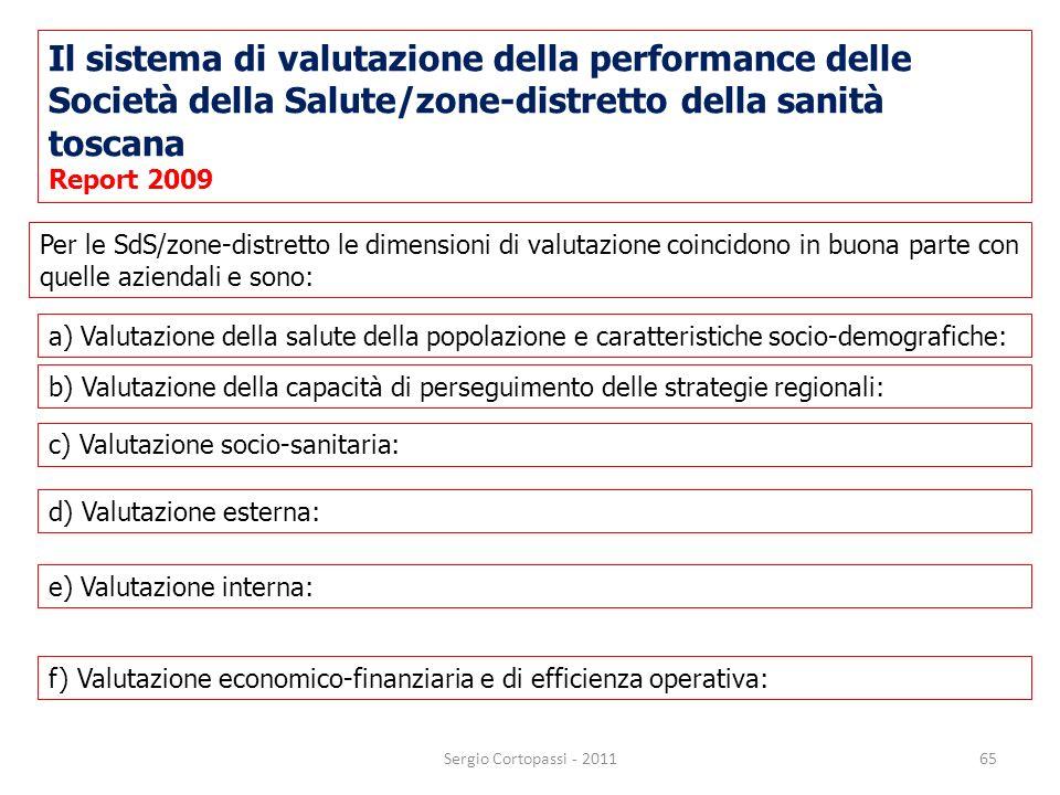 Il sistema di valutazione della performance delle Società della Salute/zone-distretto della sanità toscana