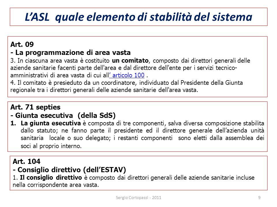 L'ASL quale elemento di stabilità del sistema