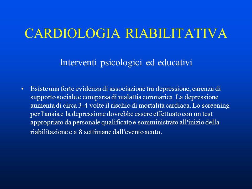 CARDIOLOGIA RIABILITATIVA