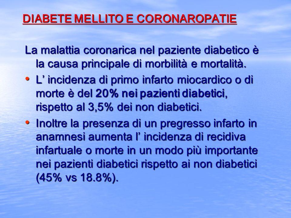 DIABETE MELLITO E CORONAROPATIE