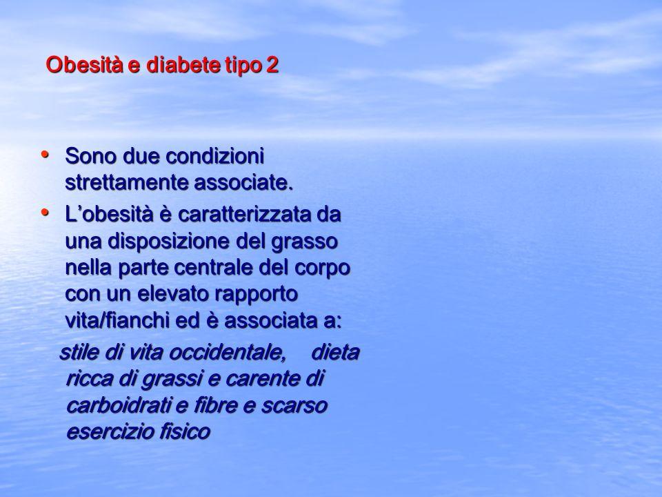 Obesità e diabete tipo 2 Sono due condizioni strettamente associate.