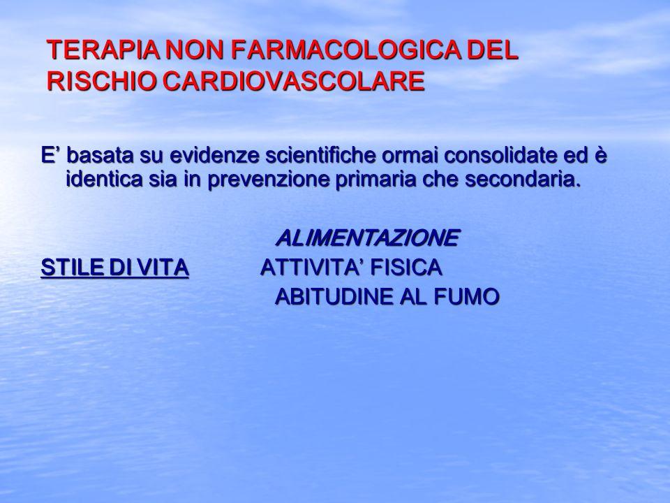 TERAPIA NON FARMACOLOGICA DEL RISCHIO CARDIOVASCOLARE