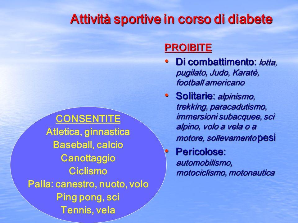 Attività sportive in corso di diabete