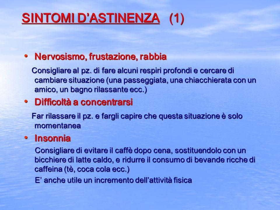 SINTOMI D'ASTINENZA (1)