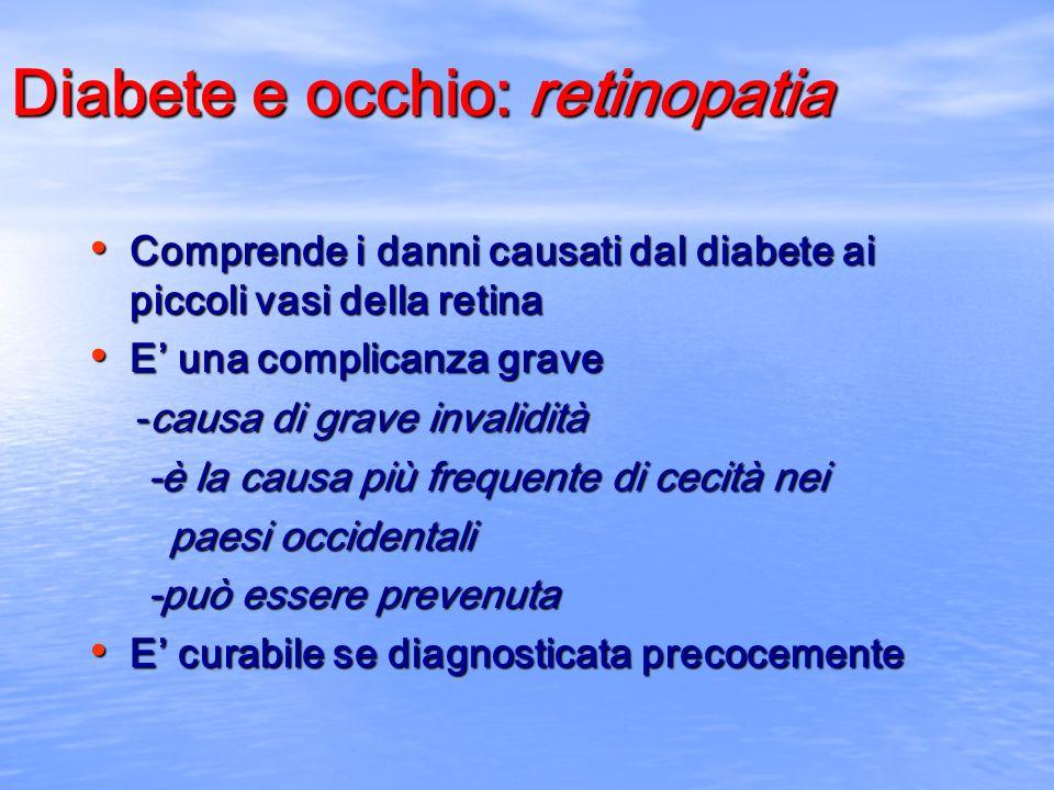 Diabete e occhio: retinopatia
