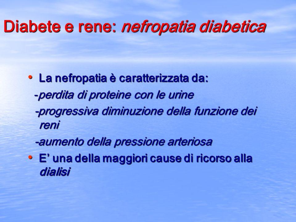 Diabete e rene: nefropatia diabetica