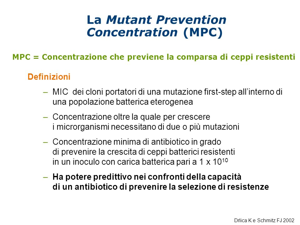 La Mutant Prevention Concentration (MPC)