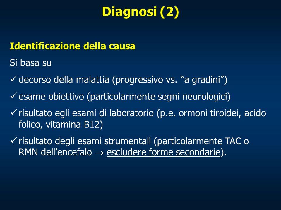 Diagnosi (2) Identificazione della causa Si basa su
