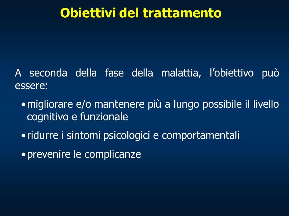 Obiettivi del trattamento