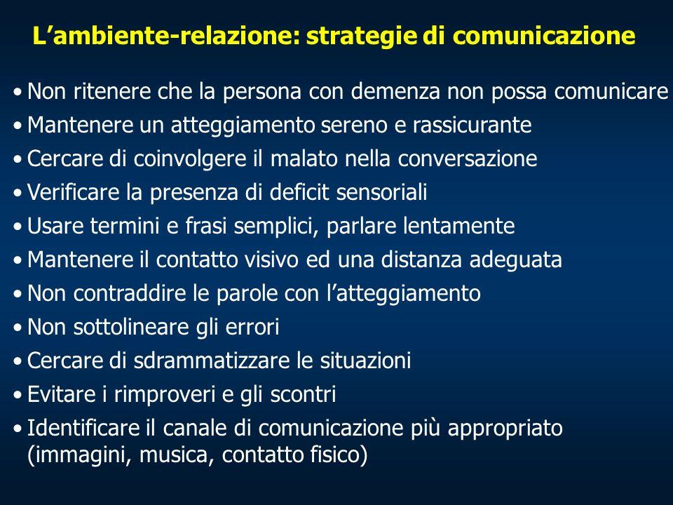 L'ambiente-relazione: strategie di comunicazione