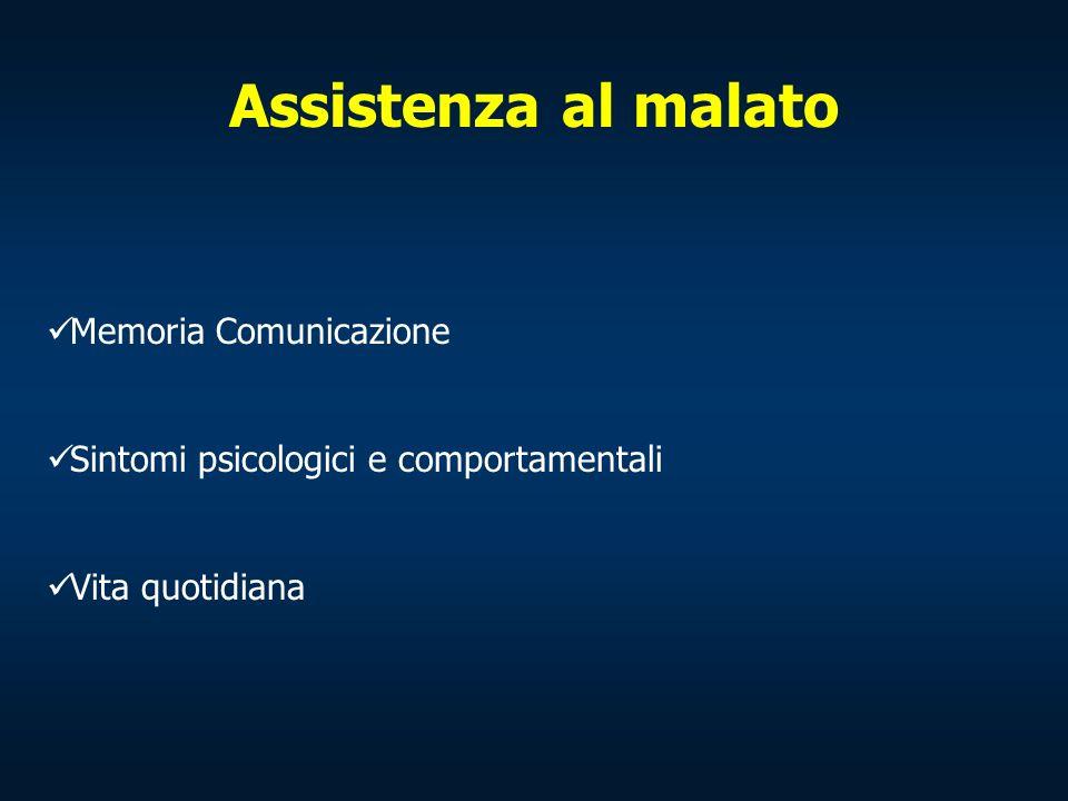 Assistenza al malato Memoria Comunicazione