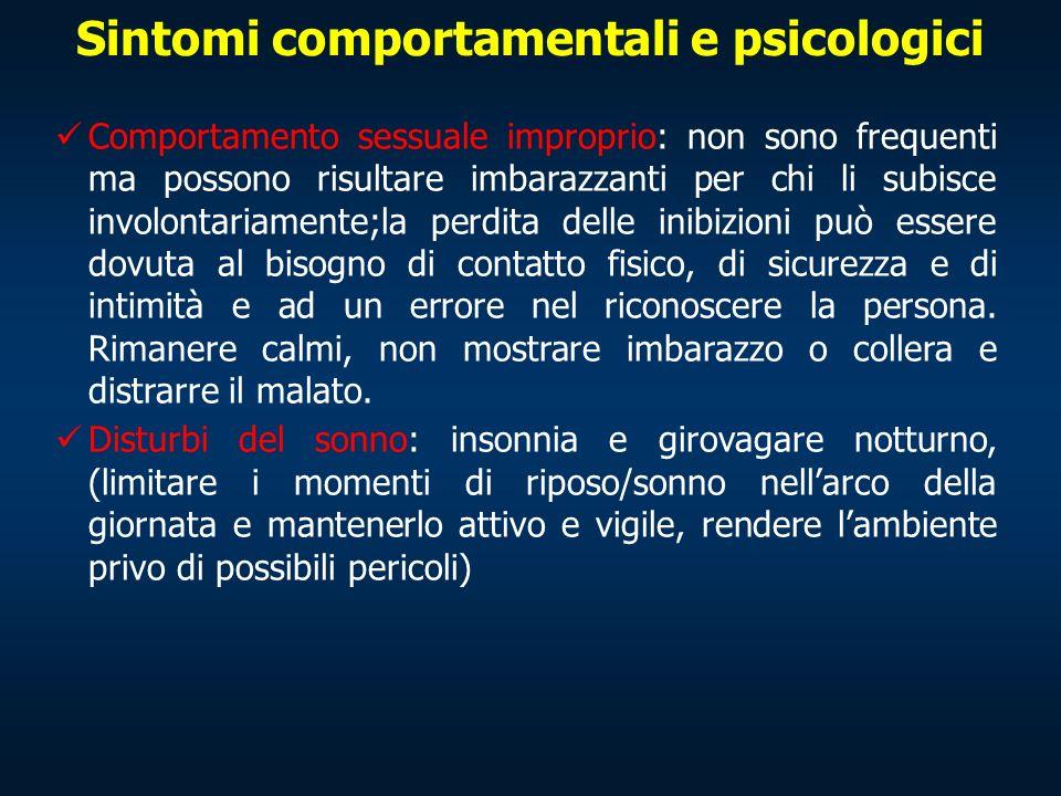 Sintomi comportamentali e psicologici