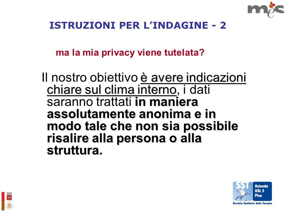 ISTRUZIONI PER L'INDAGINE - 2