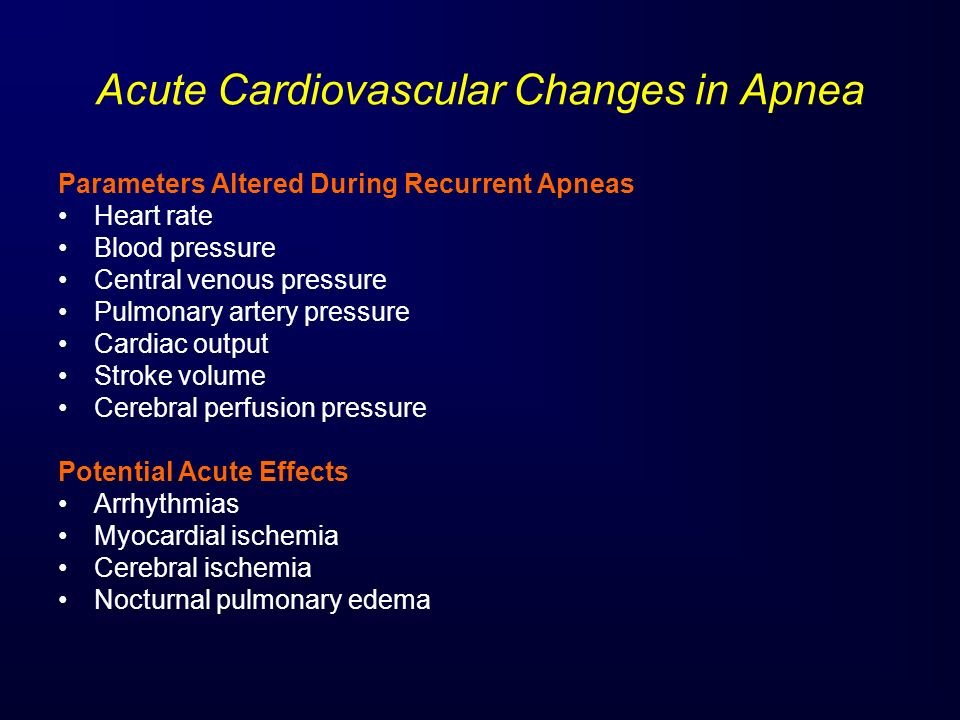 Acute Cardiovascular Changes in Apnea