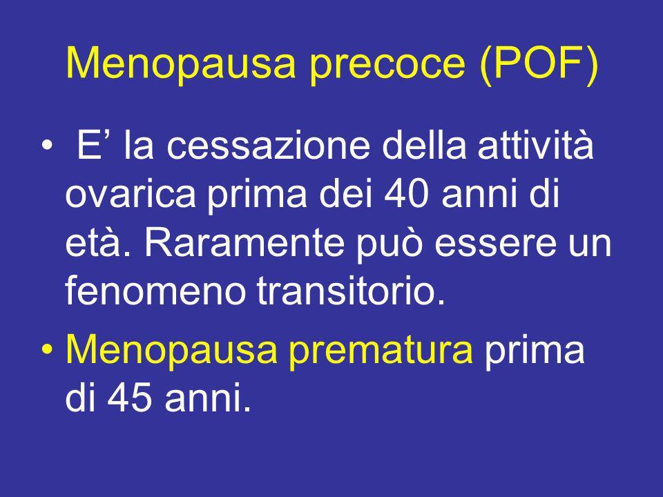Menopausa precoce (POF)