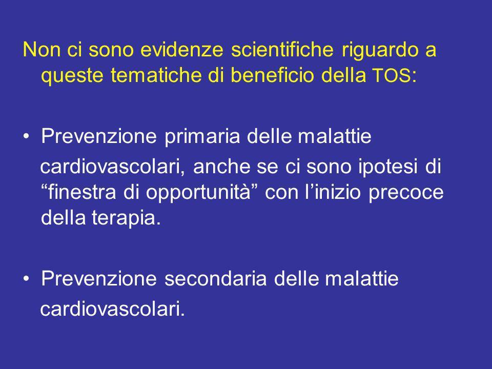 Non ci sono evidenze scientifiche riguardo a queste tematiche di beneficio della TOS: