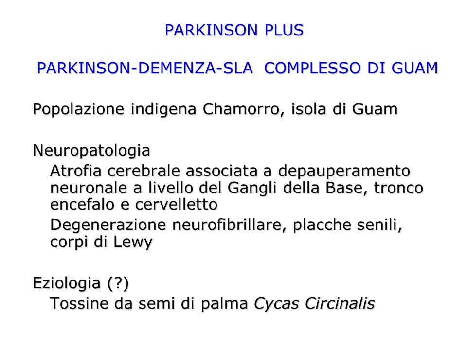 PARKINSON-DEMENZA-SLA COMPLESSO DI GUAM