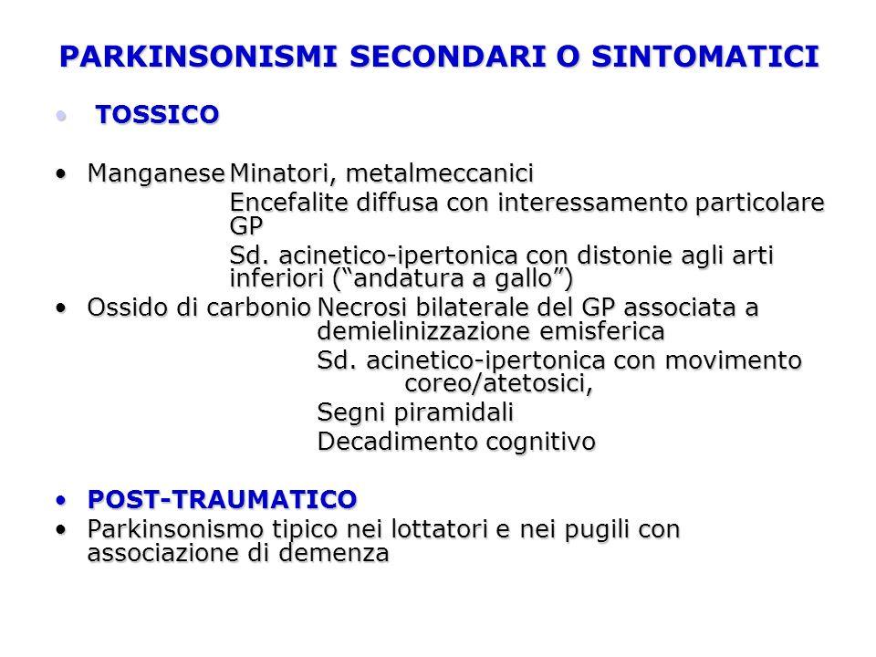 PARKINSONISMI SECONDARI O SINTOMATICI