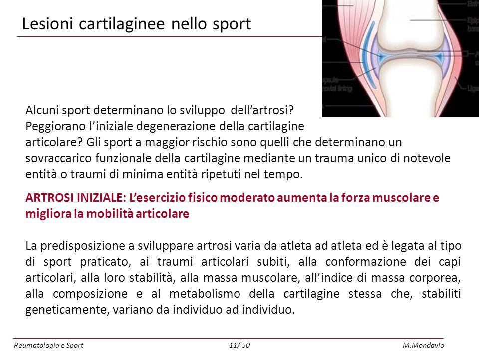 Lesioni cartilaginee nello sport