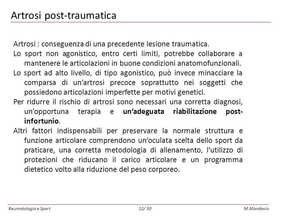 Artrosi post-traumatica