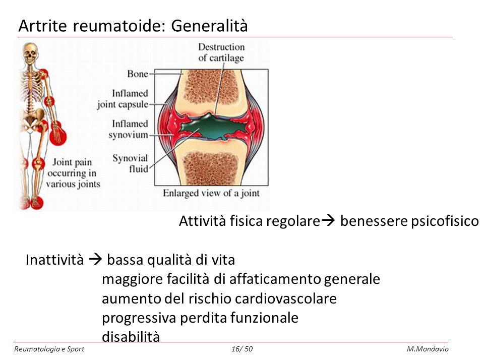 Artrite reumatoide: Generalità