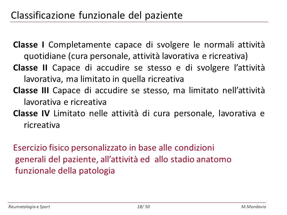 Classificazione funzionale del paziente